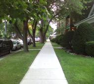 Andersonville sidewalk