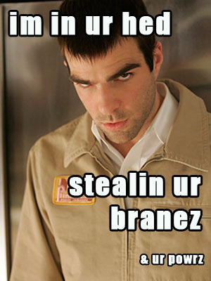 sylar in ur hed